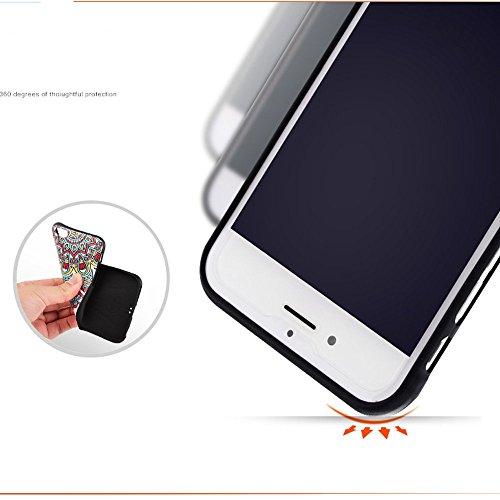 iPhone 6/6s Case - VENTER® Bunte Printing Perfect Fit-Muster-weiche TPU Silikon-Stoß harter PC-rückseitige Abdeckung Matt Transparent Exclusive Design Premium Schutz Ultra Slim Tasche für Apple iPhone