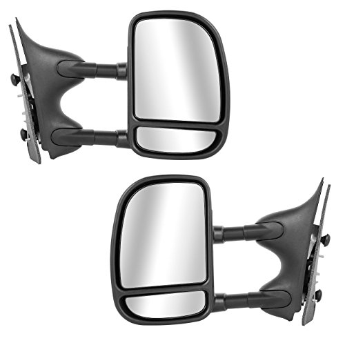Ford Side Mirror View - SCITOO 1999-2007 Ford F250 F350 F450 Pair Power Towing Mirrors Side View Mirrors Fit 1999 2000 2001 2002 2003 2004 2005 2006 2007 Super Duty Truck