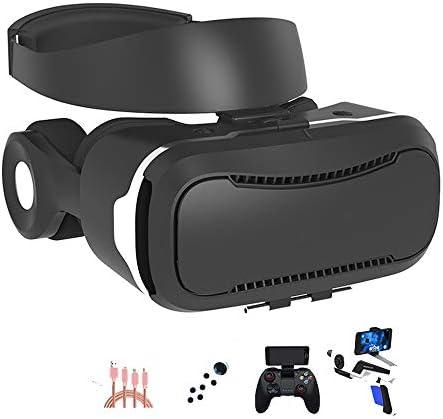 バーチャルリアリティのメガネ3D 4.5〜6.0インチのiPhone / Androidスマートフォンに最適、 ヘッドマウント ゲーム映画,Black,Package3