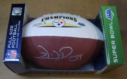 (Willie Parker Signed Pittsburgh Steelers Super Bowl 43 Champions Football W/coa From Signing)