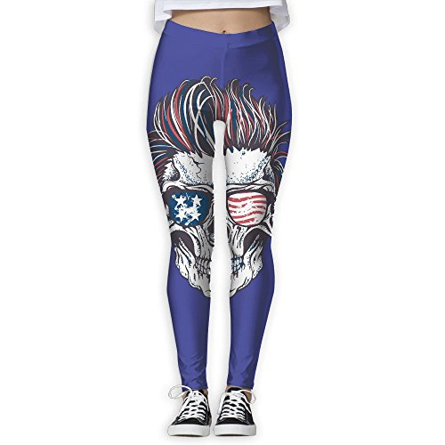 0dc31d9c7d301 Women s Girl Skull Human Sunglasses Usa Flag High Waist Casual Leggings  Tights Yoga Pants Running Pants Stretchy Sport Pilates Workout Long  Sportswear