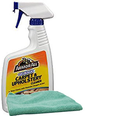 Armor All Oxi Magic Carpet and Upholstery Cleaner (22 oz.), Bundles with a Microfiber Cloth (2 Items)