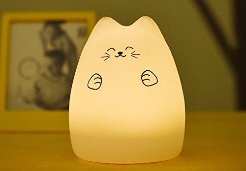 17 opinioni per YOEEKU LED Light molle variopinta del silicone del gatto di notte di ricarica di