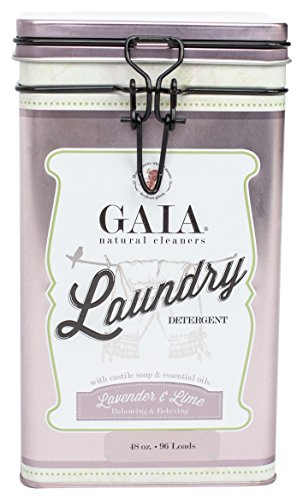 Gaia Natural Cleaners Castile Laundry Detergent with Lavender and Lime Essential Oil