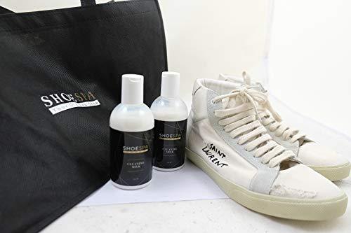 ShoeSpa Lait nettoyant pour cuir 250 ml pour chaussures, sacs, vestes et autres accessoires en cuir 5