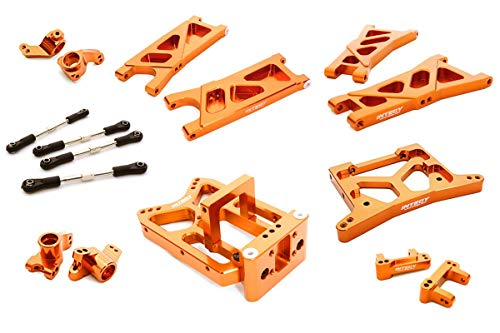 Integy RC Model Hop-ups C26738ORANGE Billet Machined Suspension Kit for HPI 1/10 Jumpshot MT, SC & ST