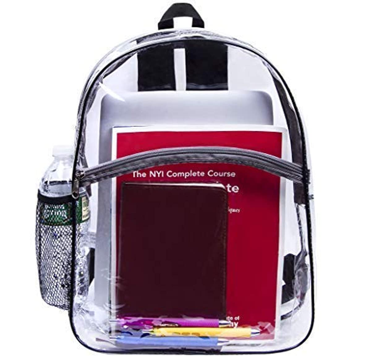 New Clear Backpack Transparent Book Bag Plastic