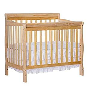 Dream On Me 4 in 1 Aden Convertible Mini Crib, Natural with 3 Mini/Portable Crib Mattress, White.