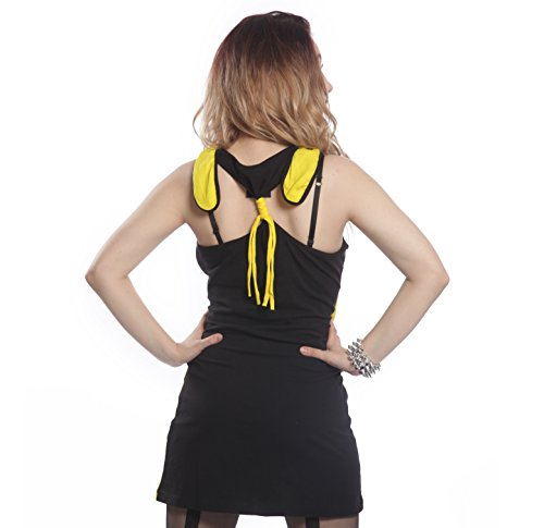 Chu Chu Kleid Damen gelb/schwarz Alternative Emo Goth Punk Osiris Fashion Damen New mit Tags versiegelt