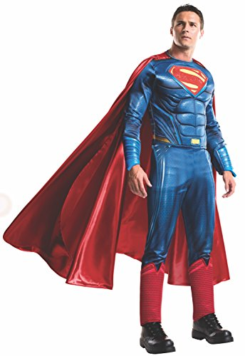 Superman Cosplay Costumes (Rubie's Men's Batman v Superman: Dawn of Justice Grand Heritage Superman Costume, Multi, X-Large)