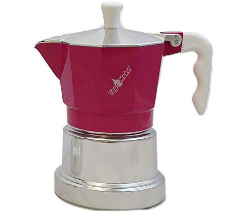 Cafetera Top Moka-Plata top03 Rosa: Amazon.es: Hogar