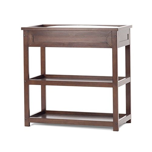 Child Craft Abbott Walnut Brown Wood Dressing Table (Expresso Portable Crib compare prices)