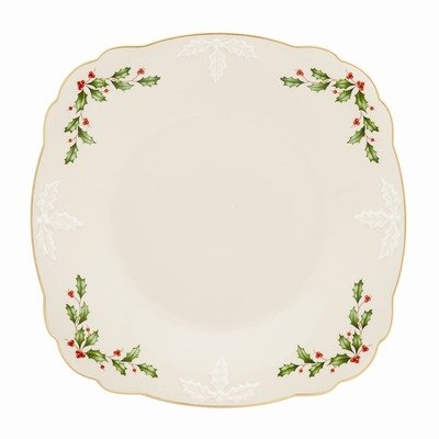 Holiday Carved Square Tray (Lenox Square Platter)