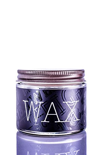 18.21 Man Made Hair Wax Pomade with Low Shine for Men, Sweet Tobacco - Hairstyle Wax with Sheen Finish for Beards and Facial Hair - All-Day Hold, Premium Styling Products, 2 oz