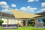 Kookaburra Waterproof Sun Sail Shade - Sand - 16ft 5'' X 13ft 1'' Rectangular