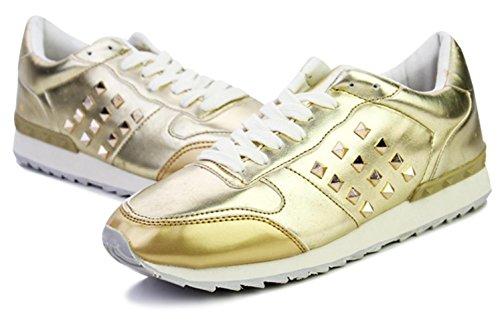 CSDM Uomini Nuovi sport di moda di svago Passeggiare Scarpe casuali Oro Bianco Nero Verde , gold , 41