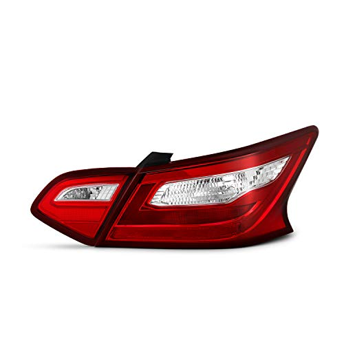 Fits 2016 2017 2018 Altima Red Clear Tail Brake Lamp [Outer Corner & Inner Trunk Pcs] Passenger Right Side RH ()