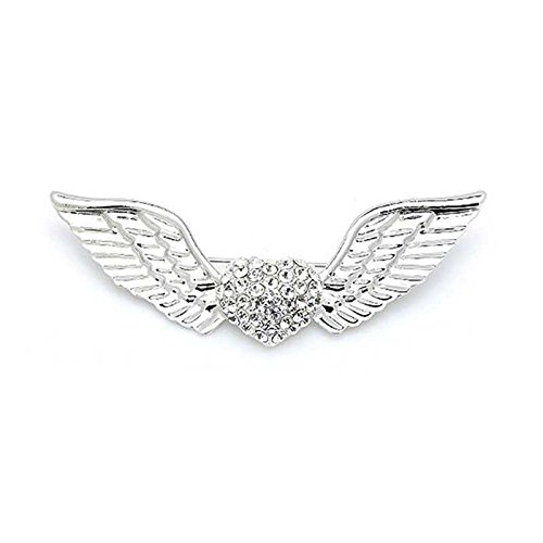 Korean fashion brooch sparkling diamond brooch love flying heart Angel Wings couple brooch (Flying Angel Pin)
