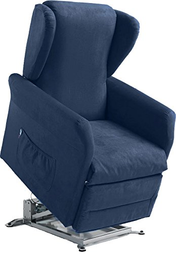 Global Relax Anita Poltrona Lift, Legno, Blu, 92x74x101 cm: Amazon ...