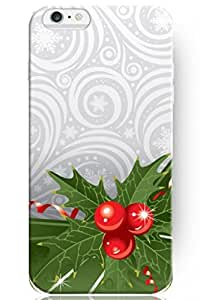 day case New Personalized Hard Snowflake Green Leaf and Red Fruits Christmas Funny for iphone 5c) Case