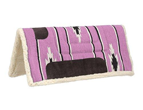 Pony Saddle Blanket - Tough 1 Pony Square Saddle Pad, Pink/Black/Cream