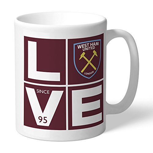 (Official Personalized West Ham United FC Love Mug - Free Personalisation)