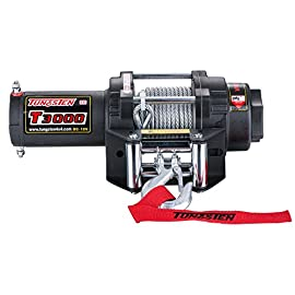 Tungsten4x4 T3000 1.4 HP ATV/UTV Electric Utility Cable Winch with Roll Fairlead, 3000 lbs Capacity