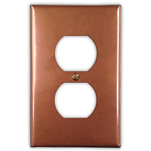 Antique Copper 1 Duplex Wallplate by Copper Ventures
