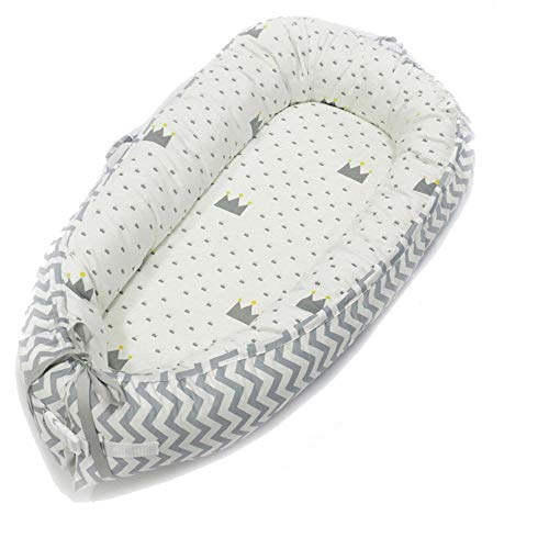Newborn Baby Lounger,Hbitsae Multifunctional Baby Nest, Portable Soft Breathable Baby Snuggle Nest, 100% Cotton Swaddling Wrap for Newborn & Babies Bionic Bed- Perfect for Co-Sleeping