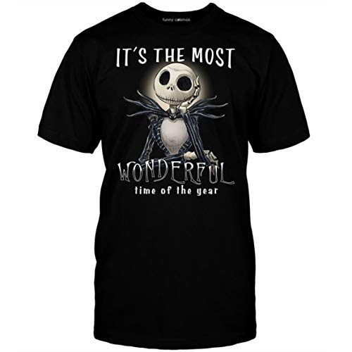 It's The Most Wonderful Time Of The Years T Shirt Jack Skellington Lovers T Shirt Halloween Costume Gift Customized T-shirt | Long Sleeve | Hoodie | Tank Top | Racerback ()