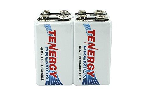 4 pcs of Tenergy Premium 9V 200mAh NiMH Rechargeable Batteries