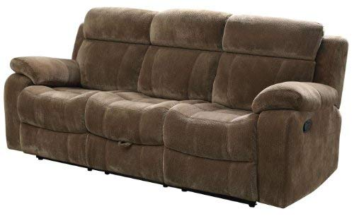 Coaster Home Furnishings Myleene Motion Sofa with Drop Down and Pillow Arms Mocha