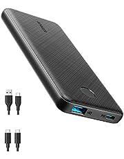 Anker PowerCore Slim 10000 PD, 20W 10000mAh Power Delivery Powerbank, externt USB-C-batteri, kompatibel med iPhone 12/12 mini/12 Pro/12 Pro/12 Pro Max, S10, Pixel 3 (strömförsörjning ingår inte)