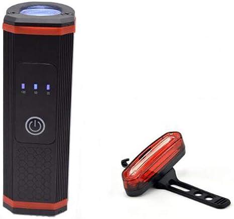 SD Cargadores USB Impermeable Montar en Bicicleta Bicicleta de montaña Focos para Montar en Bicicleta, T6 Resaltar Lámpara Pantalla de Potencia 5 Modos de iluminación Gran Capacidad,E: Amazon.es: Deportes y aire libre