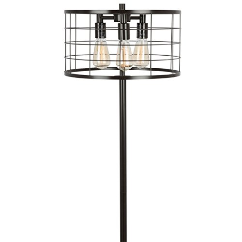 Lumisource Floor Black Lamp (Indy Wire Floor Lamp with Antique Metal Antique-Style Metal Construction)