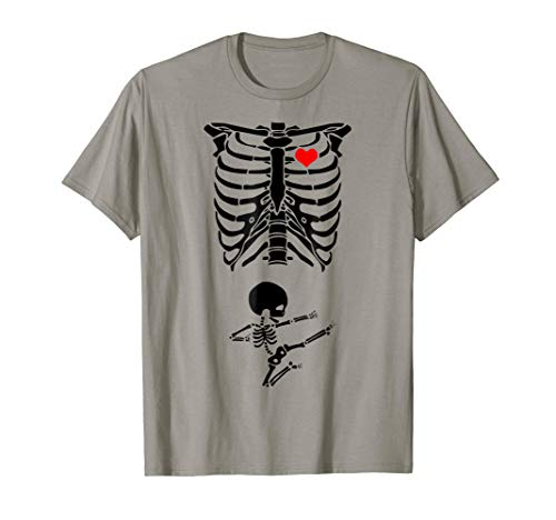 Halloween Skeleton Mother-to-be Costume Karate Baby T-Shirt ()