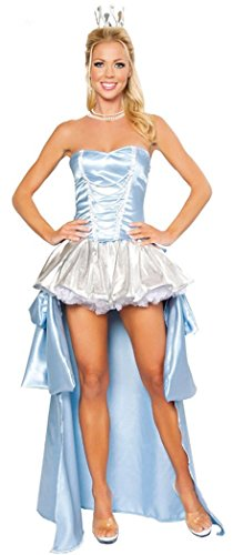 Christmas PEGGYNCO Christmas Womens Deluxe Midnight Princess Costume(Blue) (Lilac Angel Toddler Costume)