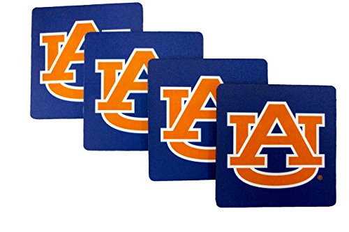 Auburn Tigers Square - NCAA Auburn Tigers 4pk Neoprene Square Coaster Set