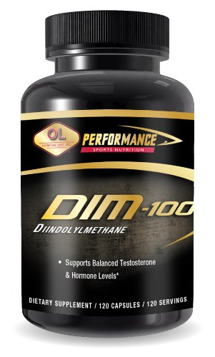 Olympienne Lab Dim (Diindolylmethane), 100 mg, capsules, 120-Count (emballage peut varier)