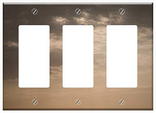 Switch Plate Triple Rocker/GFCI - Portugal Cabo Da Roca Sea Sun Rays Heavenly Ocean
