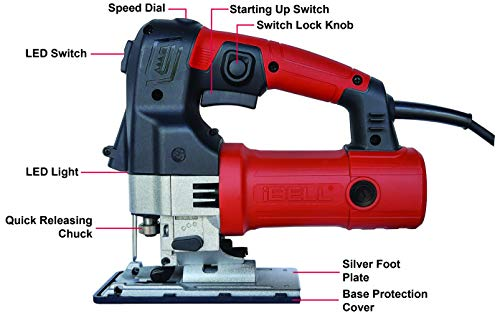 IBELL Professional JIG Saw with LED, 700W, Carrying Case, 3 Blades, 84 Inches Cord 4