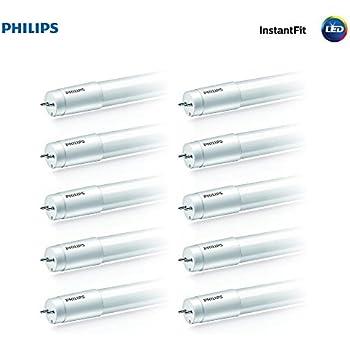 Philips LED InstantFit 4-Foot T8 Tube Light Bulb 2100-Lumen, 4000-Kelvin, on