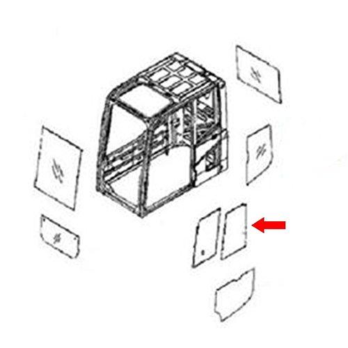 20Y-54-35821 Rear Door Slider Glass Made for Komatsu Excavator PC120-6 PC100-6 (Rear Excavator)