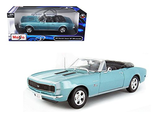 1967 Chevrolet Camaro SS 396 Convertible Turquoise 1/18 Model Car by Maisto