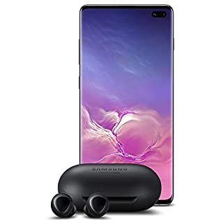 Samsung Galaxy S10+ Plus Factory Unlocked Phone with 1TB (U.S. Warranty), Ceramic Black w/Galaxy Buds