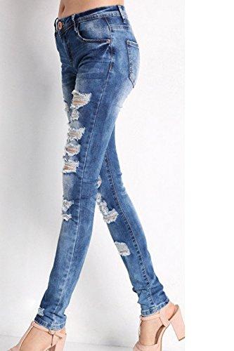 Jeans Pantalons Slim Skinny Blue Les Jeans Femmes avec Copain Zojuyozio Les BqXRRp