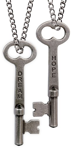 Angelstar 13832 Hope/Strength Key of Wisdom Pendant, 2-1/2-Inch