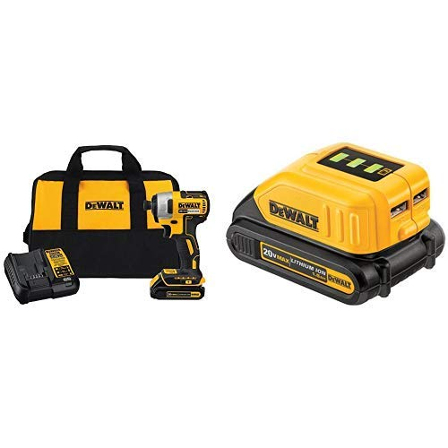 DEWALT DCF787C1 Cordless Impact Driver Kit (Includes Battery and ...