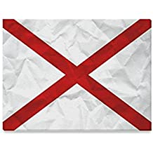 Alabama Flag American US State Oil Painting Canvas Print Modern Wall Art for Home Decoration 16x12inch