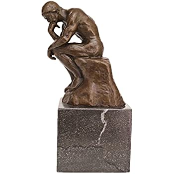 Toperkin Classical Rodin The Thinker Bronze Sculpture Art Home Decor Statues Tpe 185